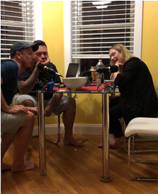 Content team podcasting
