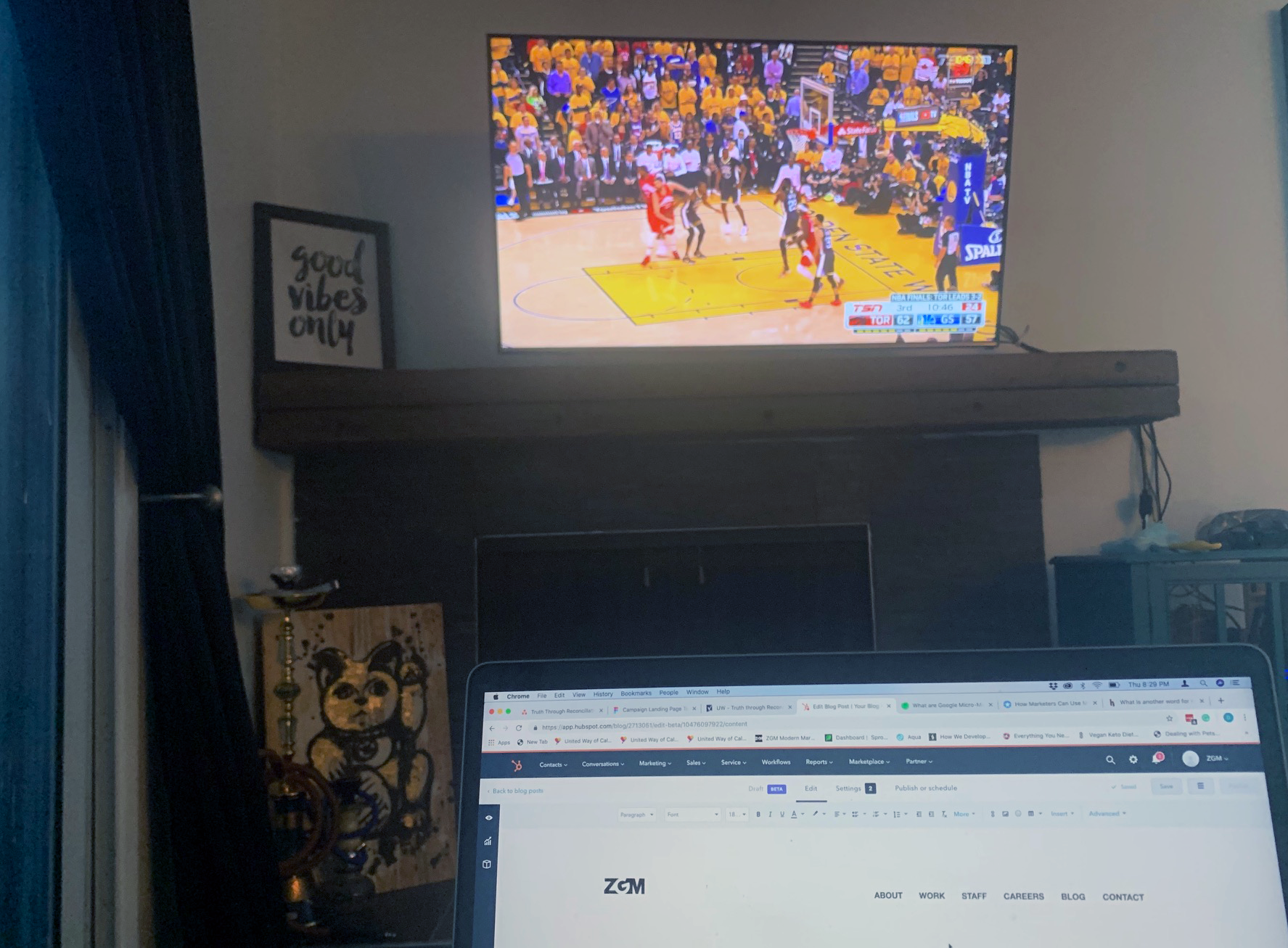 blogging and basketball